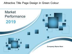 Attractive Title Page Design In Green Colour Ppt Powerpoint Presentation Portfolio Gridlines