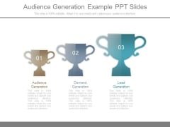 Audience Generation Example Ppt Slides