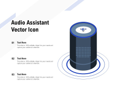 Audio Assistant Vector Icon Ppt PowerPoint Presentation Gallery Structure