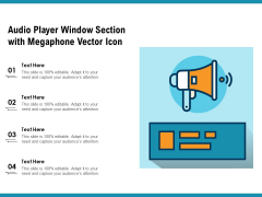 Audio Player Window Section With Megaphone Vector Icon Ppt PowerPoint Presentation Infographic Template Picture PDF