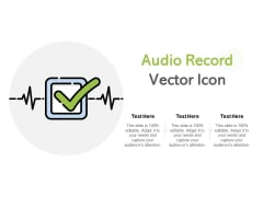 Audio Record Vector Icon Ppt PowerPoint Presentation Outline Outfit