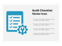 Audit Checklist Vector Icon Ppt PowerPoint Presentation Infographics Structure