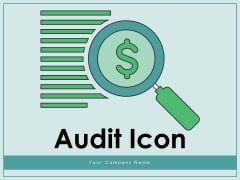 Audit Icon Performing Data Workplace Culture Ppt PowerPoint Presentation Complete Deck