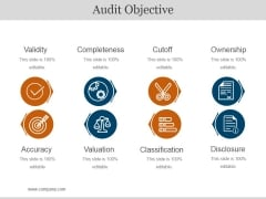 Audit Objective Ppt PowerPoint Presentation Graphics