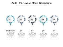 Audit Plan Owned Media Campaigns Ppt PowerPoint Presentation Icon Smartart Cpb Pdf