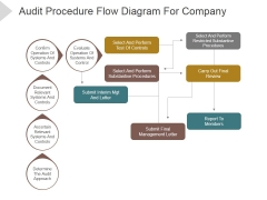 Audit Procedure Flow Diagram For Company Ppt PowerPoint Presentation Example