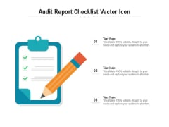 Audit Report Checklist Vector Icon Ppt PowerPoint Presentation Outline Sample PDF