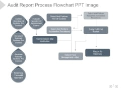 Audit Report Process Flowchart Ppt PowerPoint Presentation Design Ideas