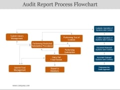 Audit Report Process Flowchart Ppt PowerPoint Presentation Slides