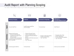Audit Report With Planning Scoping Ppt PowerPoint Presentation Layouts Slideshow