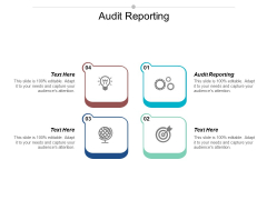 Audit Reporting Ppt PowerPoint Presentation Professional Background Designs Cpb