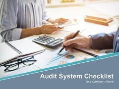 Audit System Checklist Powerpoint Presentation Slides