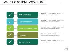 Audit System Checklist Ppt PowerPoint Presentation Infographics Show
