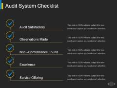 Audit System Checklist Ppt PowerPoint Presentation Show