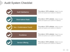 Audit System Checklist Ppt PowerPoint Presentation Template