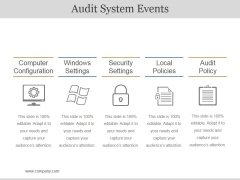 Audit System Events Ppt PowerPoint Presentation Ideas