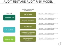 Audit Test And Audit Risk Model Ppt PowerPoint Presentation Images
