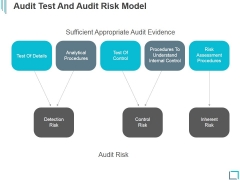Audit Test And Audit Risk Model Ppt PowerPoint Presentation Slide