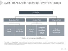 Audit Test And Audit Risk Model Ppt PowerPoint Presentation Template
