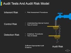 Audit Tests And Audit Risk Model Ppt PowerPoint Presentation Outline Information