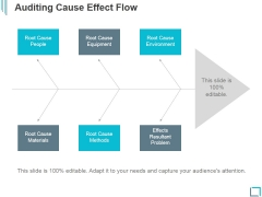 Auditing Cause Effect Flow Ppt PowerPoint Presentation Sample