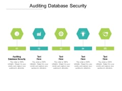 Auditing Database Security Ppt PowerPoint Presentation Portfolio Vector Cpb Pdf