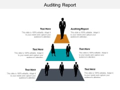 Auditing Report Ppt PowerPoint Presentation Pictures Deck Cpb