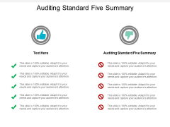 Auditing Standard Five Summary Ppt PowerPoint Presentation Styles Backgrounds Cpb