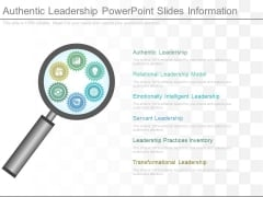 Authentic Leadership Powerpoint Slides Information