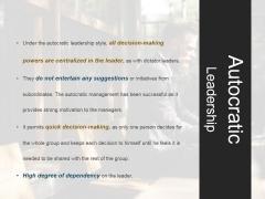 Autocratic Leadership Ppt PowerPoint Presentation Shapes