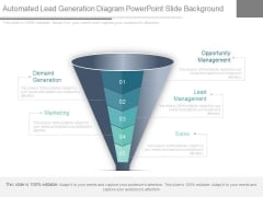 Automated Lead Generation Diagram Powerpoint Slide Background