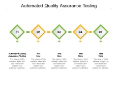 Automated Quality Assurance Testing Ppt PowerPoint Presentation Slides Model Cpb Pdf