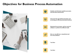 Automatically Controlling Process Objectives For Business Process Automation Summary PDF