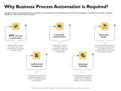 Automatically Controlling Process Why Business Process Automation Is Required Demonstration PDF