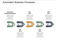 Automation Business Processes Ppt PowerPoint Presentation Outline Influencers Cpb