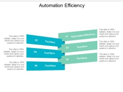 Automation Efficiency Ppt PowerPoint Presentation Model Slideshow Cpb