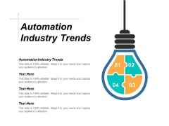 Automation Industry Trends Ppt PowerPoint Presentation Outline Graphics Template Cpb