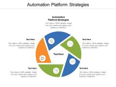 Automation Platform Strategies Ppt PowerPoint Presentation Summary Influencers Cpb