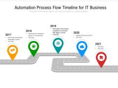 Automation Process Flow Timeline For IT Business Ppt PowerPoint Presentation File Slide PDF