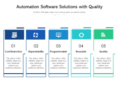 Automation Software Solutions With Quality Ppt PowerPoint Presentation Outline Grid PDF