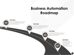 Automation Techniques And Solutions For Business Business Automation Roadmap Ppt Infographics Format PDF