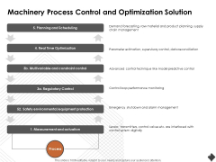 Automation Techniques And Solutions For Business Machinery Process Control And Optimization Solution Template PDF