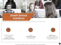 Automation Techniques And Solutions For Business Smart Sensor Solutions Ppt Icon Samples PDF