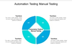 Automation Testing Manual Testing Ppt PowerPoint Presentation Professional Clipart Images Cpb