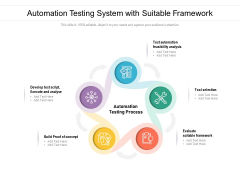 Automation Testing System With Suitable Framework Ppt PowerPoint Presentation File Outline PDF