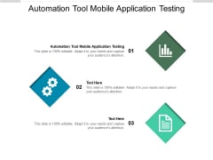 Automation Tool Mobile Application Testing Ppt PowerPoint Presentation Visual Aids Diagrams Cpb Pdf Pdf