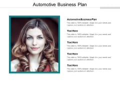 Automotive Business Plan Ppt PowerPoint Presentation Portfolio Example Cpb