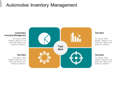 Automotive Inventory Management Ppt PowerPoint Presentation Summary Graphics Pictures Cpb