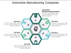 Automotive Manufacturing Companies Ppt PowerPoint Presentation File Pictures Cpb