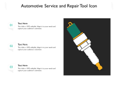 Automotive Service And Repair Tool Icon Ppt PowerPoint Presentation File Show PDF